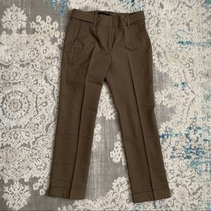 Piazza Sempione Cuffed Hems Olive Ankle Pants